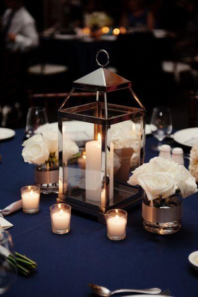 Centros de mesa con faroles para XV años
