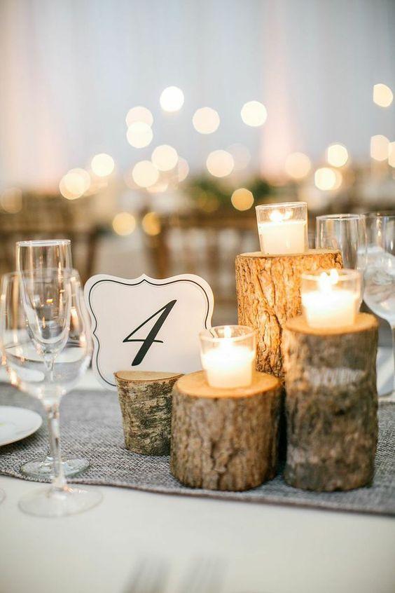 Centros mesa xv anos bases madera 6 ideas para fiestas Centros de mesa de madera