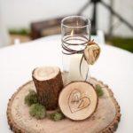 Centros de mesa para xv años con bases de madera