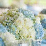 Centros de mesa para xv años color azul