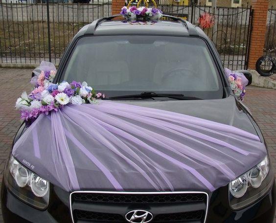 Украшение машины на свадьбу 40