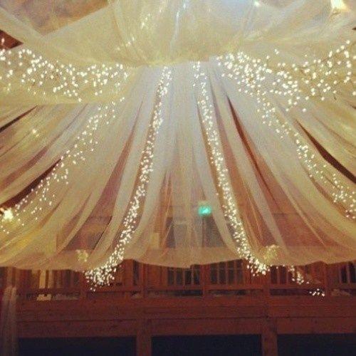 Decoración de fiestas de XV años con telas