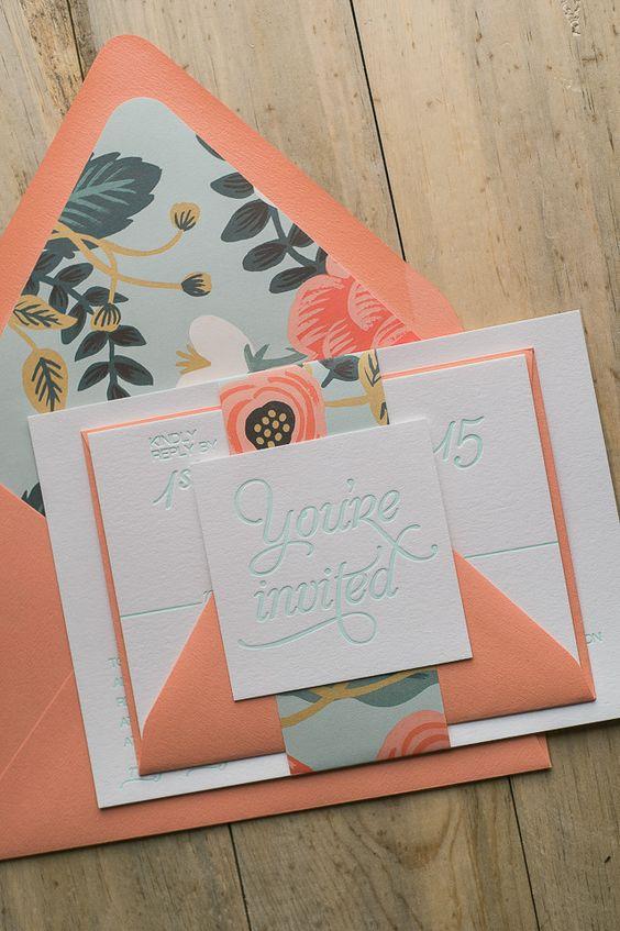 Invitaciones De Xv Anos Color Coral 20 Ideas Para