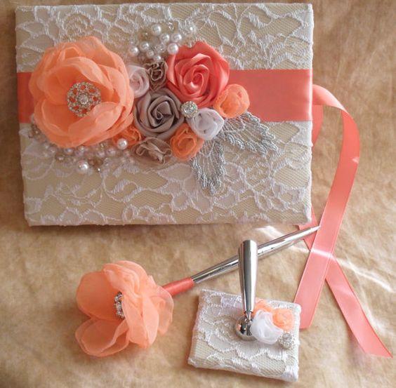 Invitaciones de XV años color coral