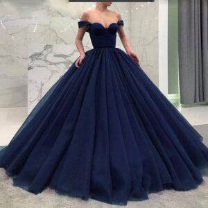 Vestidos de xv años color azul marino