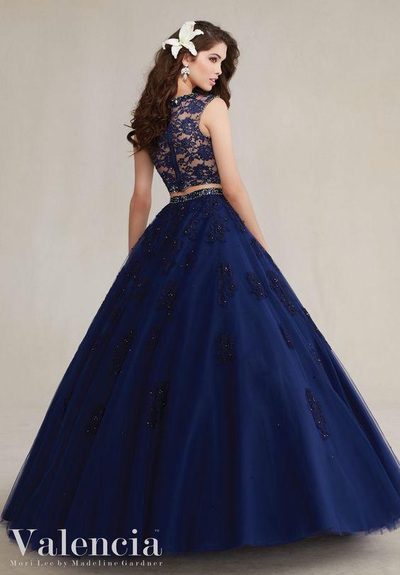 Vestidos de 15 color azul caribe