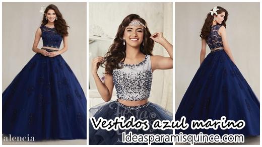 Vestidos De Xv Años Color Azul Marino Archivos Ideas Para