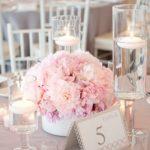 30 Centros de mesa en color rosa