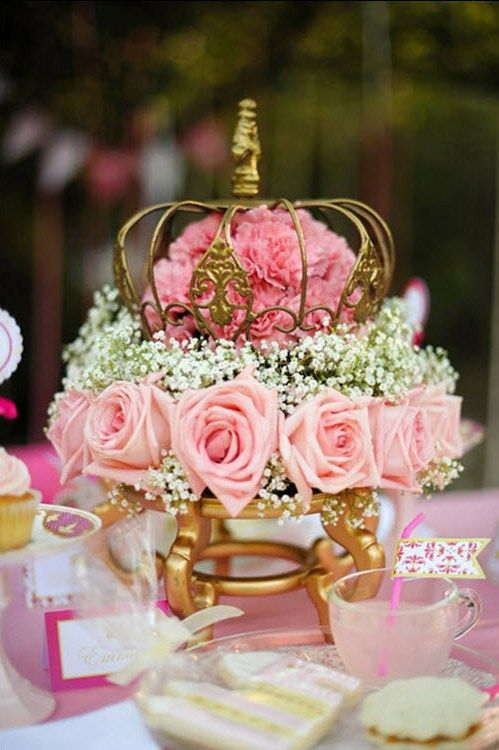 Centros de mesa en color rosa para 15