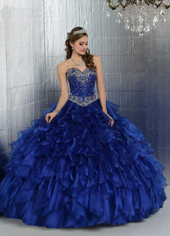 Imagenes de vestidos de xv azules