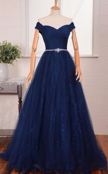 Vestidos De Xv Años Azul Marino Super Elegantes