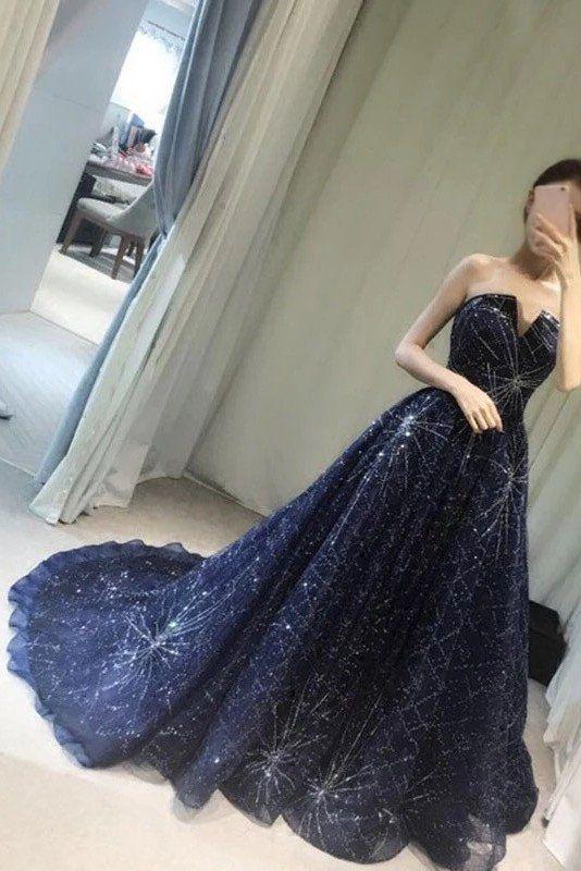 30-vestidos-xv-anos-azul-marino-super-elegantes (25) - Ideas para ...