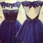 30 Vestidos de xv años azul marino ¡super elegantes!