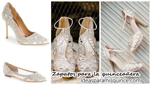 99da5a7ab 33 diseños de zapatos para quinceañeras - Ideas para Fiestas de quinceañera  - Vestidos de 15 años invitaciones de quinceañera