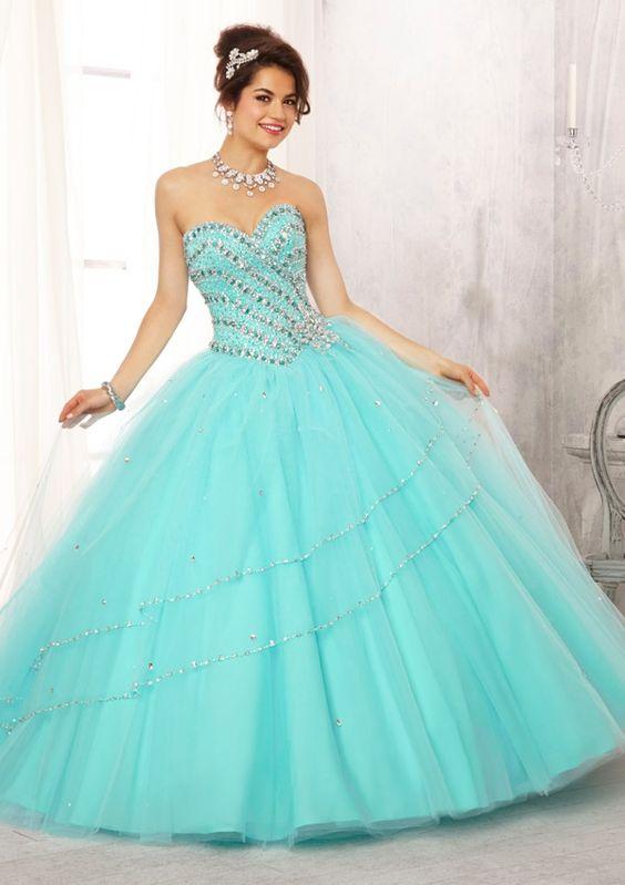 c8a584fdc Vestidos de XV años color aqua