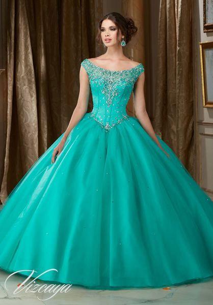 Vestidos De Xv Años Color Aqua 33 Diseños Modernos