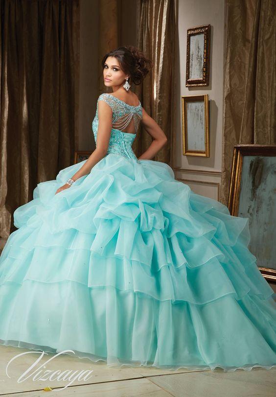 182d000ea 33 Vestidos de xv años color aqua