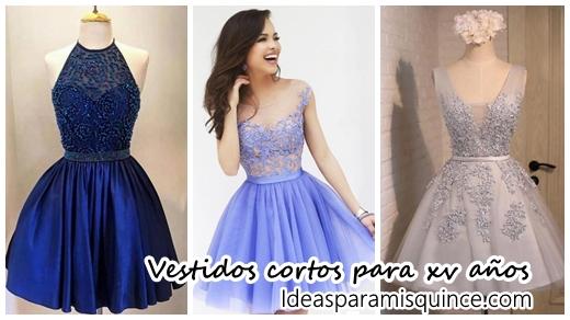 c9e84faf9 34 Vestidos cortos en diferentes colores para xv años - Ideas para Fiestas de  quinceañera - Vestidos de 15 años invitaciones de quinceañera