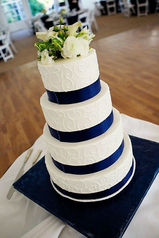 blue white wedding cakes pictures decoracion fiestas xv anos color azul marino 10 ideas 12029