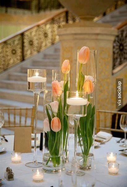 Centros mesa 15 anos flores agua 19 ideas para fiestas for Casa al dia decoracion
