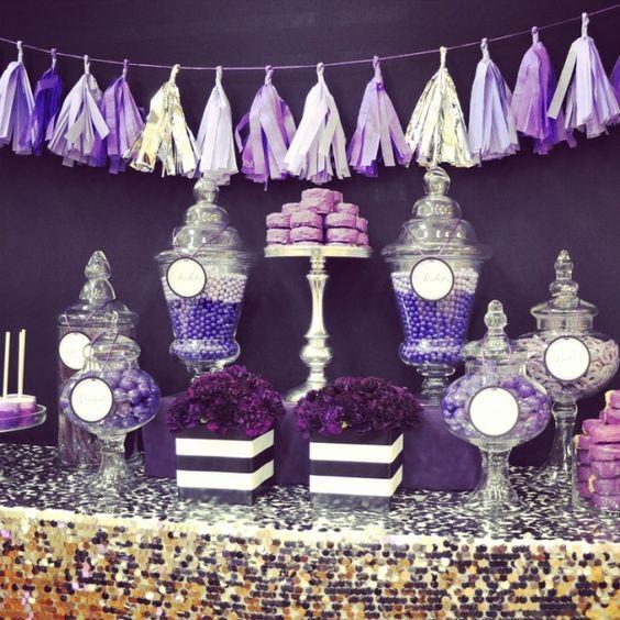 25 Best Ideas About Purple Black Bedroom On Pinterest: Decoracion-una-mesa-principal-15-anos (17)