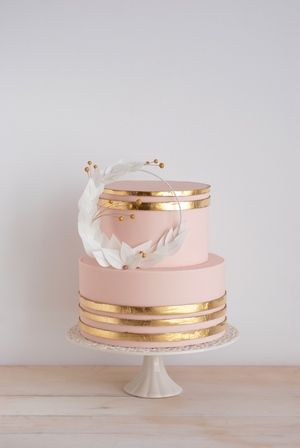 rose gold and black wedding cake pasteles 15 anos color oro rosa 26 ideas para fiestas 19261