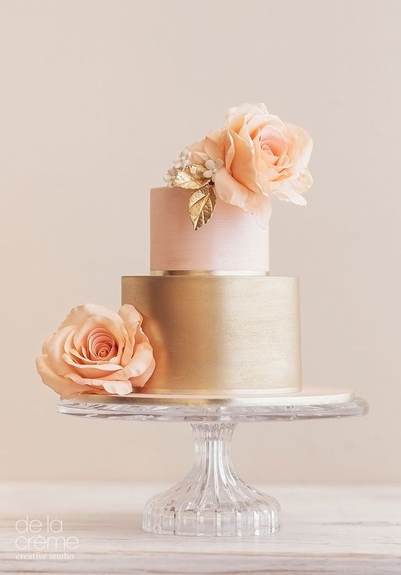 rose gold and blush wedding cakes pasteles para 15 a 241 os color oro rosa ideas para fiestas 19265
