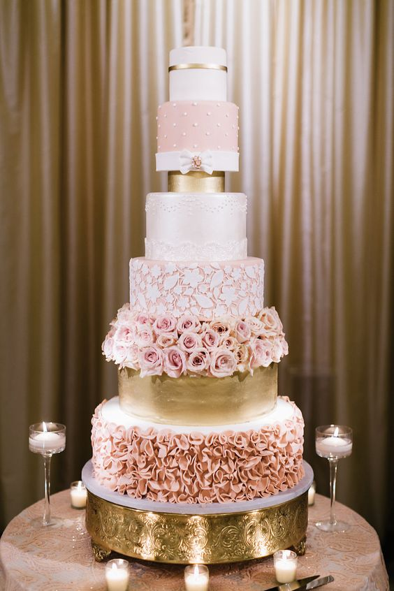 beautiful wedding cakes 2017 pasteles para 15 a 241 os color oro rosa ideas para fiestas 11221