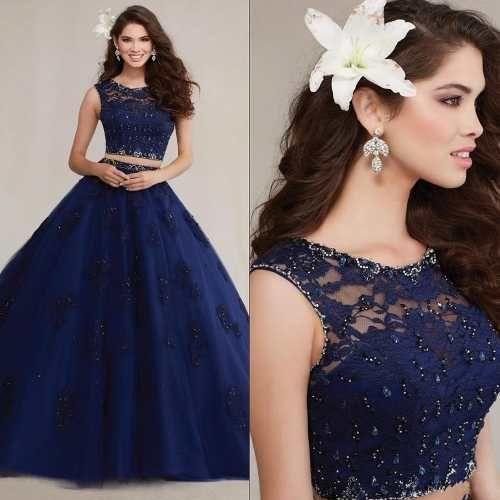 30 hermosos vestidos de dos piezas para quinceañeras