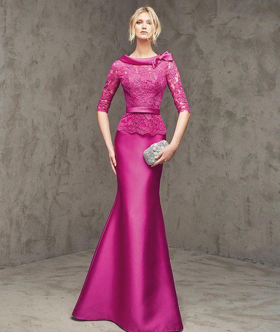 Vestidos para la mamá de la quinceañera | Diseños hermosos