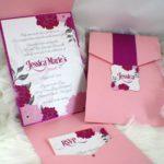 Invitaciones en Color Rosa para 15 años