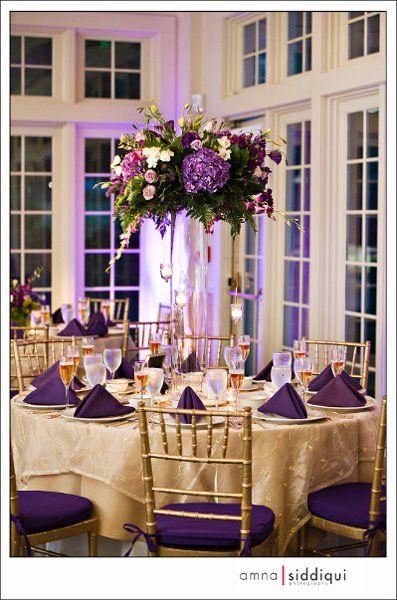 Centro de mesa xv años color morado