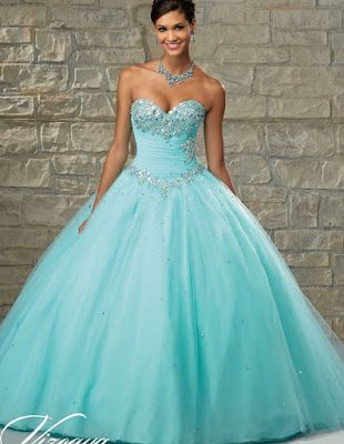 974c44d77 Preciosos vestidos de 15 años color aqua