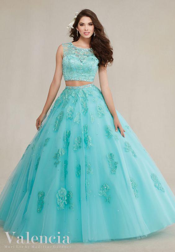 Preciosos Vestidos 15 Anos Color Aqua 6 Ideas Para