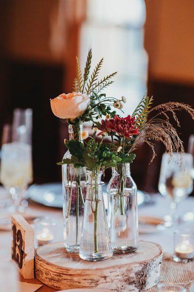 Centros de mesa con flores naturales para quince años