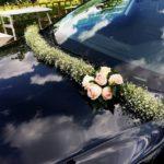 Decoración para el auto de la quinceañera