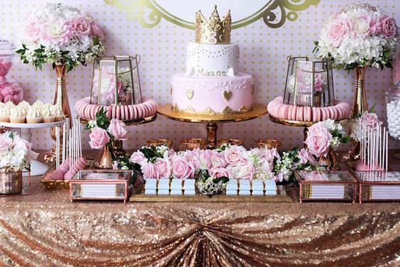 Mesas de postres para 15 a os ideas para fiestas de for Mesa de dulces para 15