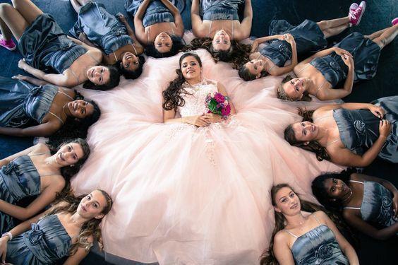 Damas de honor para fiesta de 15 años