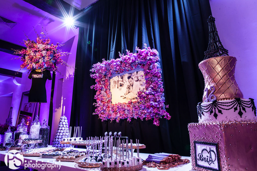 ideas para colocar fotos en la fiesta de dulces 16 (6)