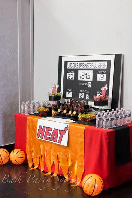 mesa de postres para fiesta de deportes 15 anos hombre