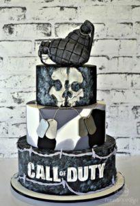pastel de videojuegos para fiesta de 15 anos hombre (2)