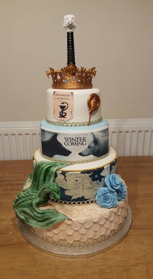 pastel game of thrones para 15 anos hombre