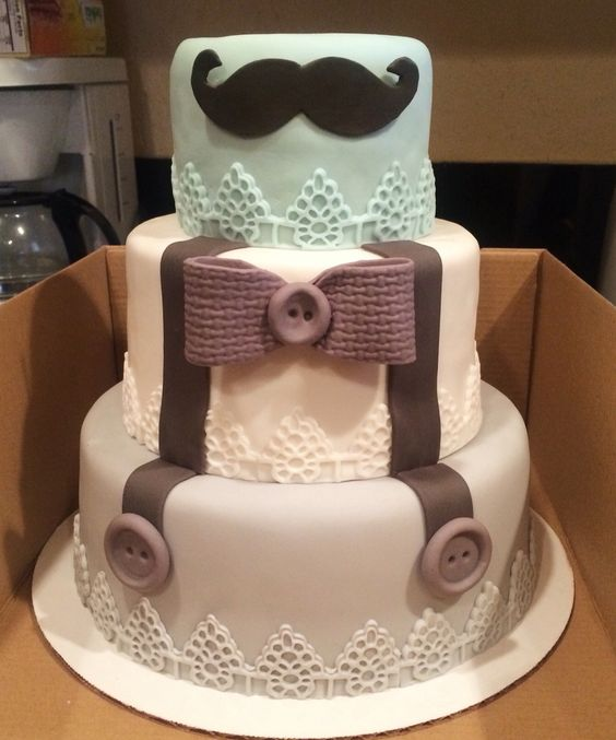 How To Make A Moustache Cake