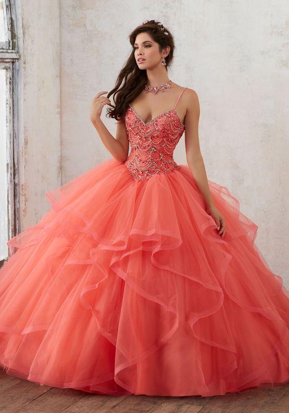 15 Best Elle France Images On Pinterest: Vestido 15 Anos Color Naranja Para Morenas (5)