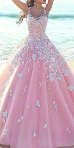 vestido de 15 anos color rosa para piel morena (3)