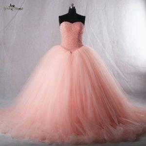vestido de 15 anos para piel morena rosa coral (2)