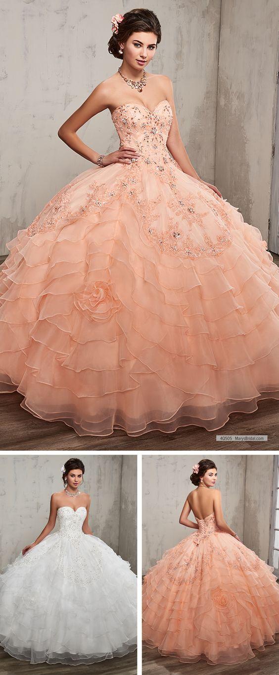 vestido de 15 anos para piel morena rosa coral (6)