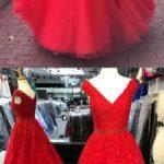 vestido rojo de 15 anos para morenas