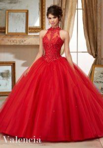 vestido rojo de 15 anos para morens (2)