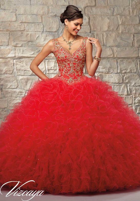 vestido rojo de 15 anos para morens (4)